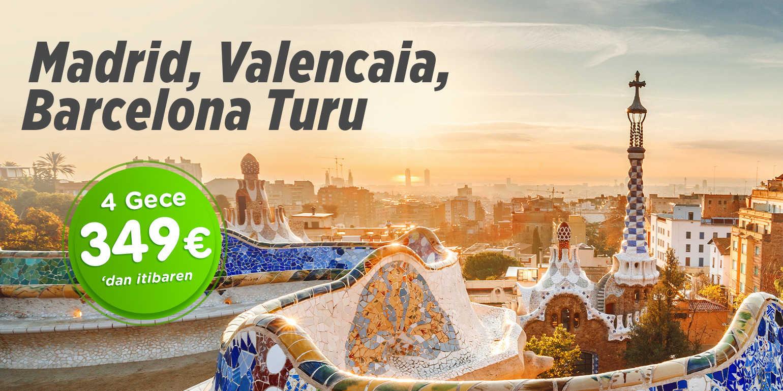 Madrid, Valencia, Barcelona Turu Pegasus Havayolları ile